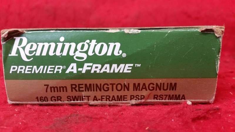 Remington 7mm Mag 160gr Swift A-Frame PSP - RS7MMA
