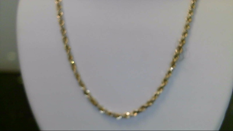 10k yellow gold 18 inch rope chain