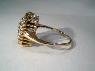 Lady's Diamond Cluster Ring 37 Diamonds .37 Carat T.W. 10K Yellow Gold 3.8g