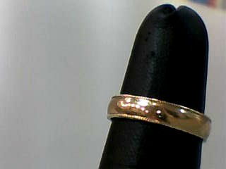 Lady's Gold Wedding Band 10K Yellow Gold 1.3dwt Size:5.7