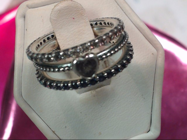 Pandora Lady's Silver Ring 925 Silver 3.4dwt Size:5.5