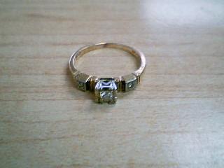 Lady's Diamond Engagement Ring 3 Diamonds .09 Carat T.W. 14K Yellow Gold 1.7g