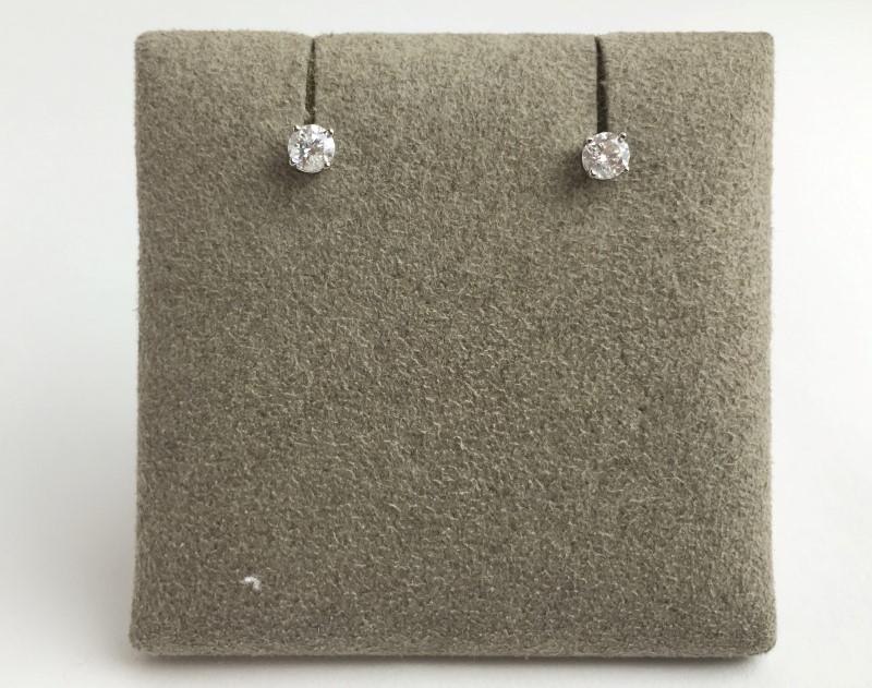Diamond Earrings 2 Diamonds .40 Carat T.W. 14K Yellow Gold 0.64g