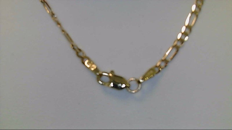 Gold Figaro Chain 10K Yellow Gold 2.9g