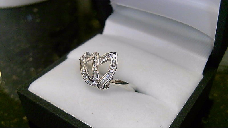 Lady's sterling silver 925 cubic zirconia sz 9 ring