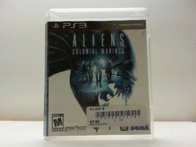 SONY Sony PlayStation 3 Game ALIENS COLONIAL MARINES