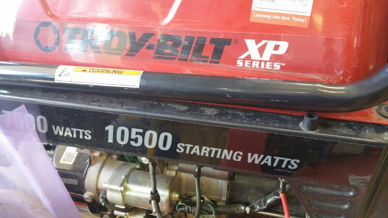 TROY BILT Generator 030477