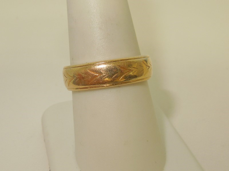 Gent's Gold Wedding Band 14K Yellow Gold 7.5g