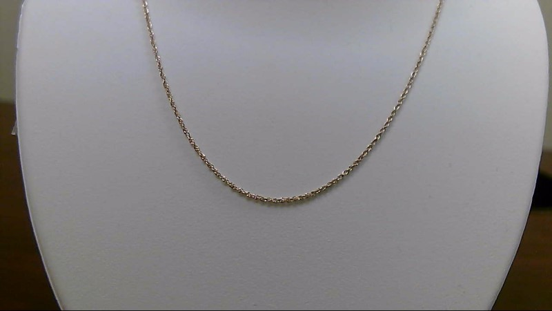 """24"""" Gold Rope Chain 14K Yellow Gold 1.9g"""