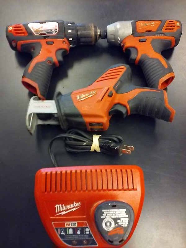 MILWAUKEE Cordless Drill 2407-20 AND 2462-20 COMBO