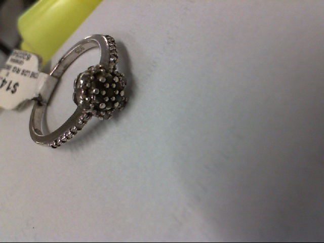 Black Stone Lady's Silver & Stone Ring 925 Silver 2.4g