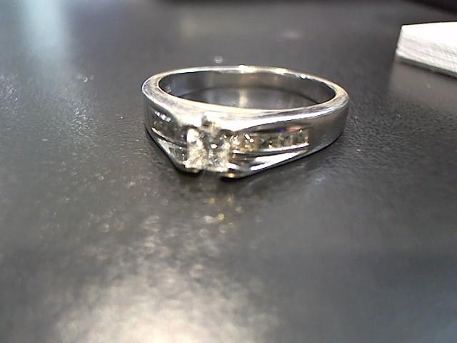 Lady's Diamond Engagement Ring 10 Diamonds .52 Carat T.W. 14K White Gold 6.1g