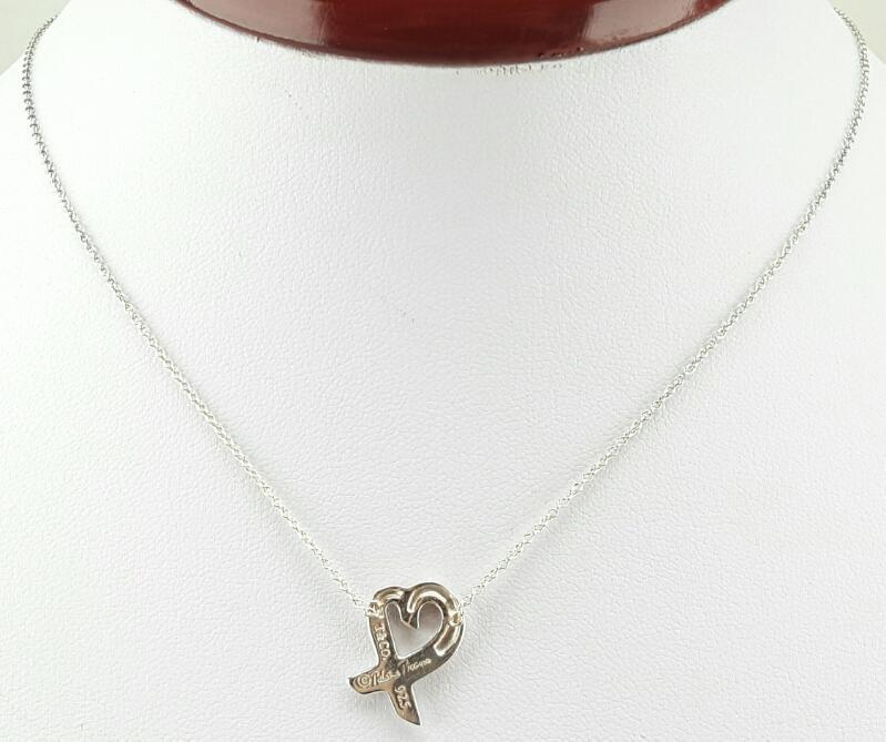"""Tiffany & Co. Paloma Picasso Small Loving Heart 18"""" 925 2.7g"""