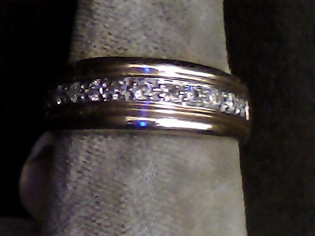 Lady's Diamond Fashion Ring 12 Diamonds .12 Carat T.W. 10K Yellow Gold 2.8dwt