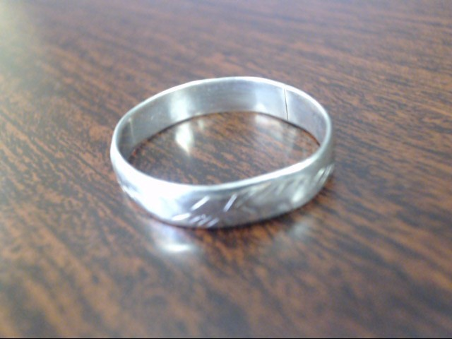 Gent's Silver Wedding Band 925 Silver 1.4g Size:9.5