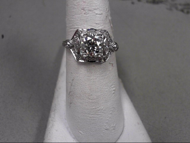 Lady's Platinum-Diamond Solitaire 19 Diamonds 1.24 Carat T.W. 999 Platinum 4.2g