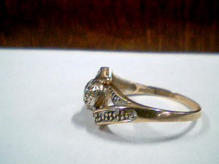 Lady's Diamond Fashion Ring .03 CT. 10K 2 Tone Gold 2.2g Size:6.5
