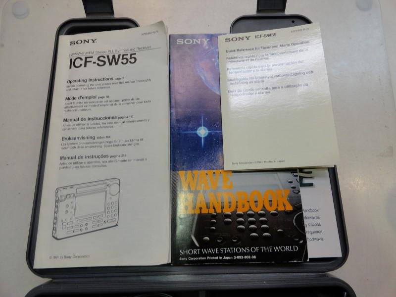 Sony ICF-SW55 FM Stereo/LW/MW/SW PLL Synthesized Worldband Receiver