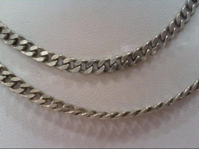 """24"""" Silver Curb Chain 925 Silver 17.4g"""