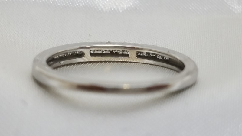 Lady's Diamond Channel Anniversary Ring 16 Princess Diamonds .48 C.T.W. 14K W/G