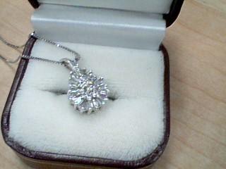 Diamond Necklace 25 Diamonds .25 Carat T.W. 14K White Gold 5.3g