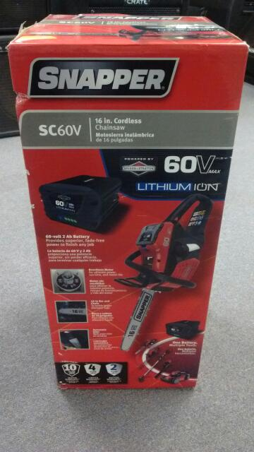 SNAPPER Chainsaw SC60V