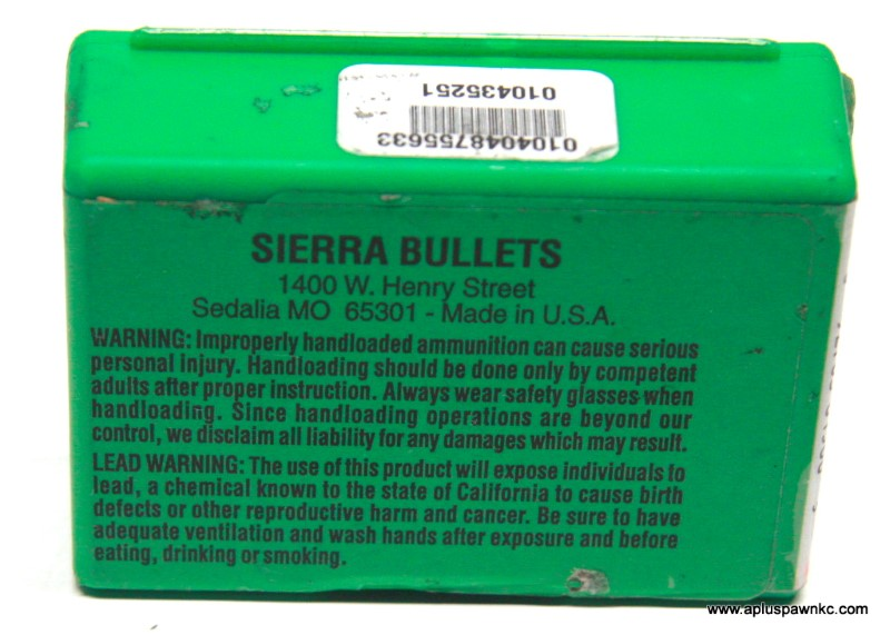 SIERRA BULLETS 6MM .243 107 GR.HPBT MATCH 1570