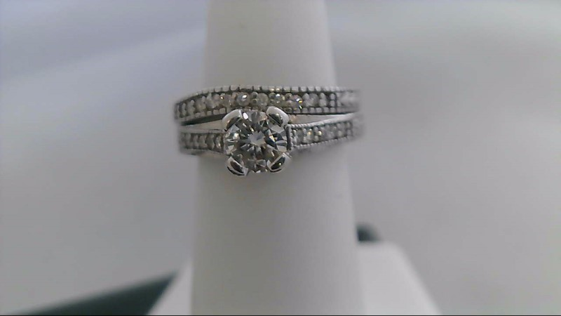 Lady's Diamond Wedding Set 24 Diamonds .63 Carat T.W. 14K White Gold 6.7g