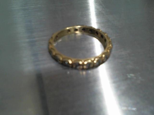 Lady's Gold-Diamond Anniversary Ring 18 Diamonds .90 Carat T.W. 14K Yellow Gold
