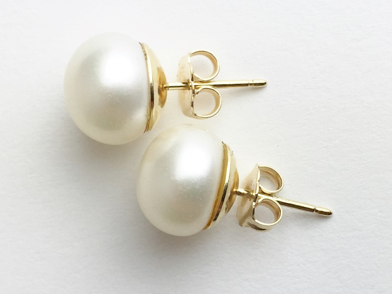 Pearl Earrings 14K Yellow Gold 2g