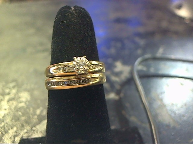 Lady's Diamond Engagement Ring 15 Diamonds .85 Carat T.W. 10K Yellow Gold
