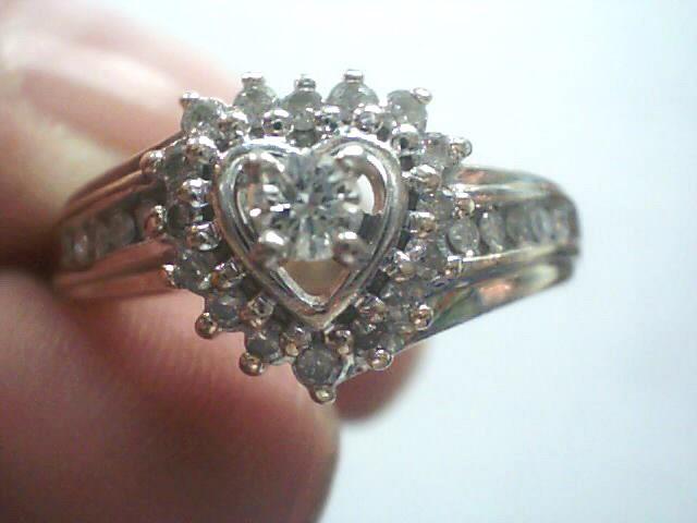 Lady's Diamond Cluster Ring 27 Diamonds .216 Carat T.W. 10K Yellow Gold 2.6dwt