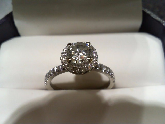 Diamond 57 Diamonds 1.40 Carat T.W. 18K White Gold 3.3g