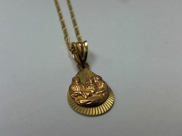 """19"""" Gold Figaro Chain 14K Yellow Gold 2.4g"""