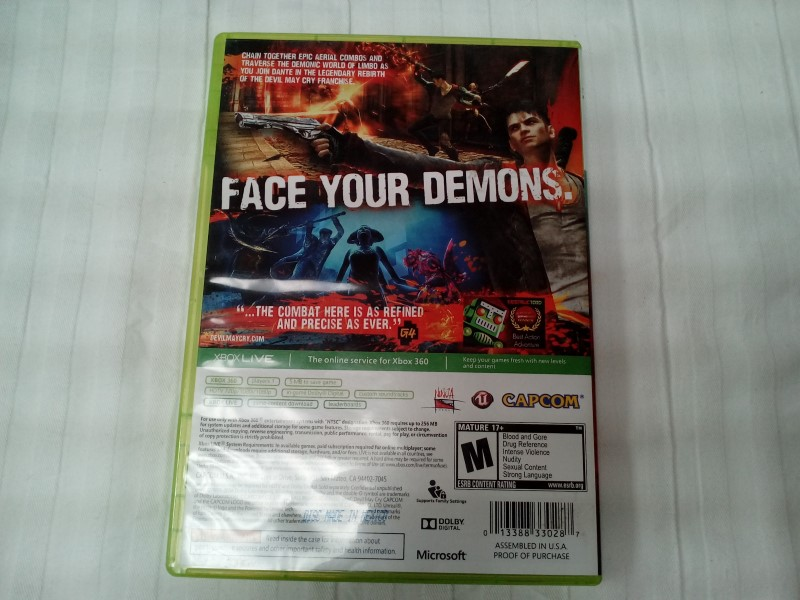 MICROSOFT XBOX 360 DMC DEVIL MAY CRY