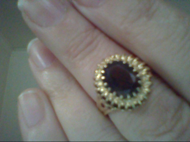 Brown Stone Lady's Stone Ring 10K Yellow Gold 3.5g