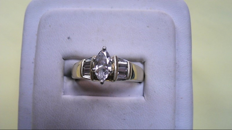 Lady's Diamond Solitaire Ring 9 Diamonds .60 Carat T.W. 14K Yellow Gold 6.6g