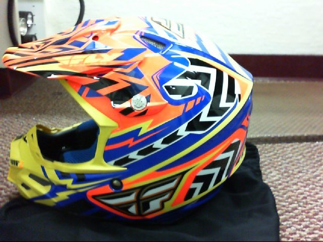 Fly Racing Multicolor Andrew Short Motorcycle Helmet
