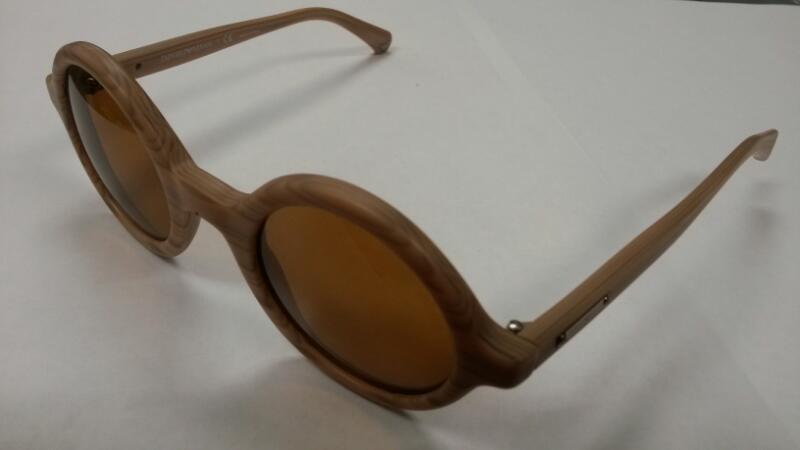 Emporio Armani EA 4011 Pre-Owned Round Sunglasses | female Wood Finish