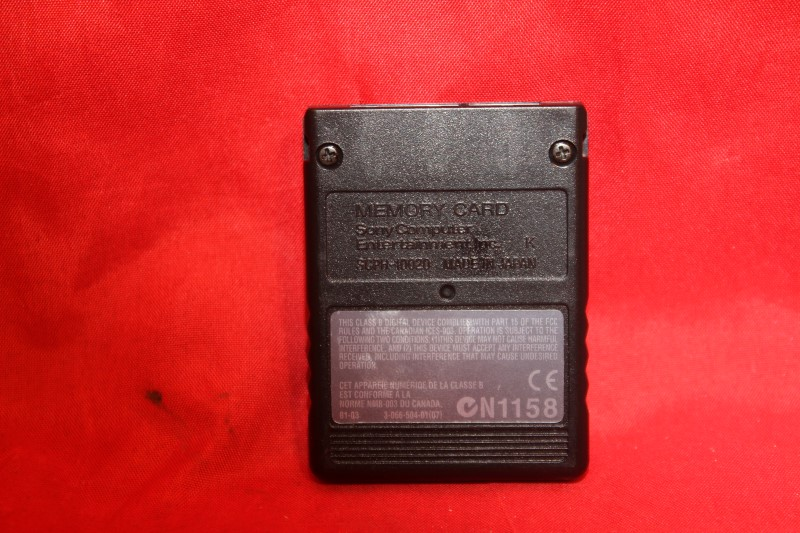 SONY PLAYSTATION 2 PS2 MEMORY CARD 8MB Black SCPH-10020 Japan