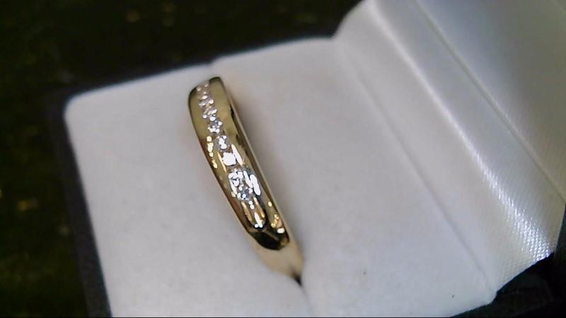 gent's 14k yellow gold round diamond band
