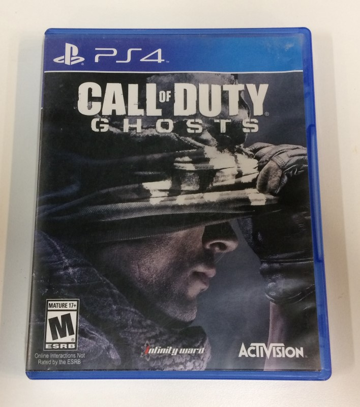 CALL OF DUTY: GHOSTS GAME FOR PS-4, VERY GOOD CONDITION. FREE SHIPPING
