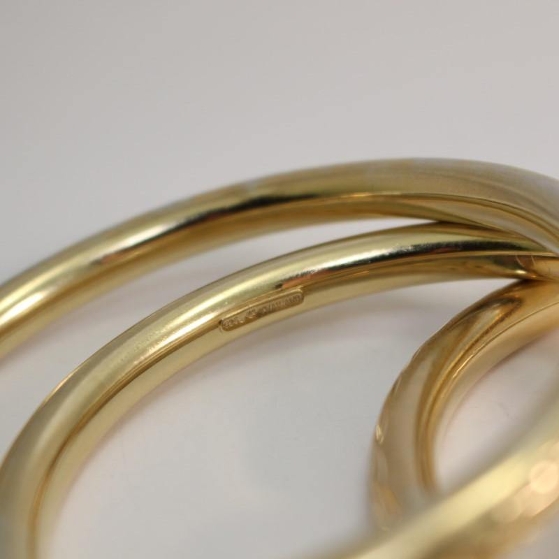 Gold-Tone Silver Bracelet Set of Three