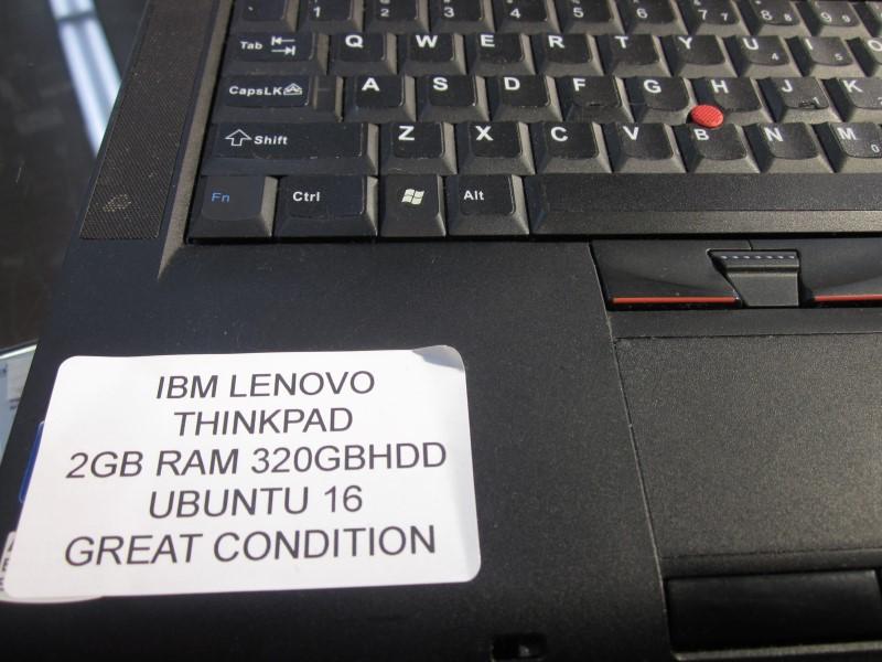 IBM LAPTOP LENOVO THINKPAD T410 - 2GB RAM - 320GB HDD - UBUNTU 16