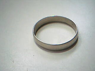 Gent's Gold Wedding Band 10K White Gold 2.1g Size:9