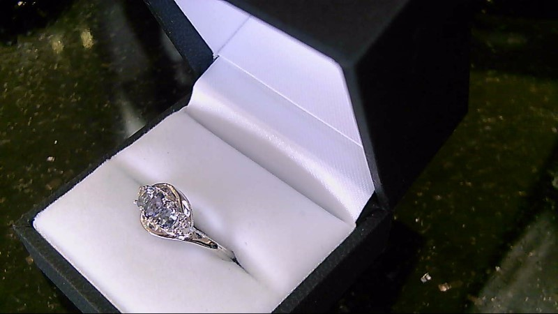Lady's Aquamarine Silver Ring 925