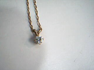 Diamond Necklace .35 CT. 14K Yellow Gold 2g