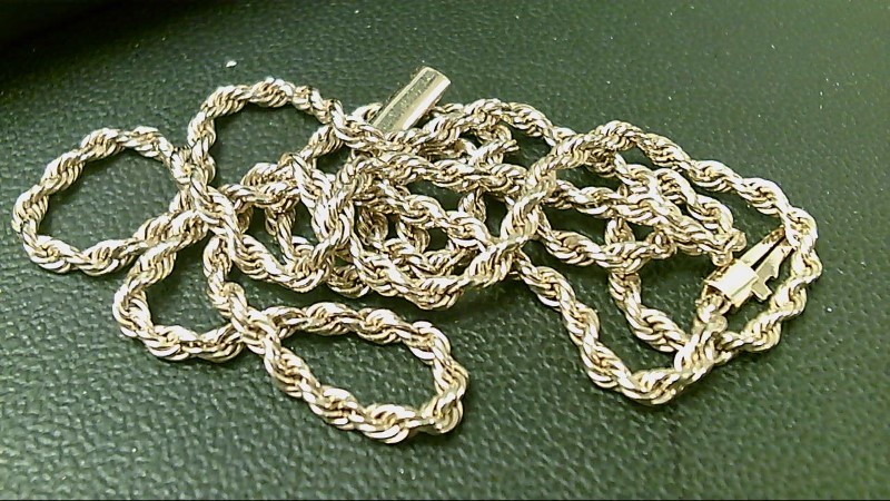 Gold Rope Chain 14K Yellow Gold 17.9g
