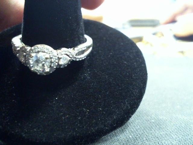 Lady's Diamond Engagement Ring 33 Diamonds .54 Carat T.W. 14K Yellow Gold 3.3g
