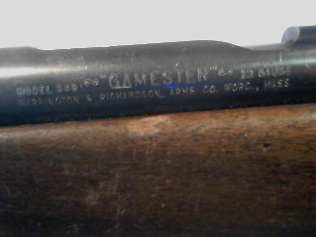 HARRINGTON & RICHARDSON Shotgun 348 GAMESTER